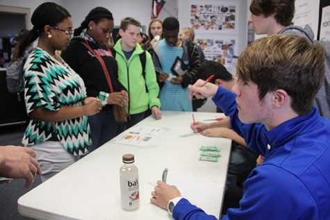 Students practice real life marketing skills