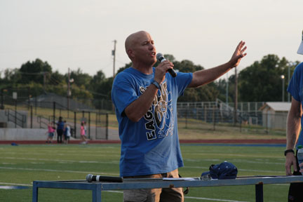 Coach Meador welcomes the community