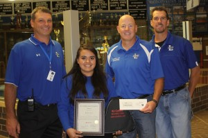 Lindale High School senior honored for citizenship to community, school