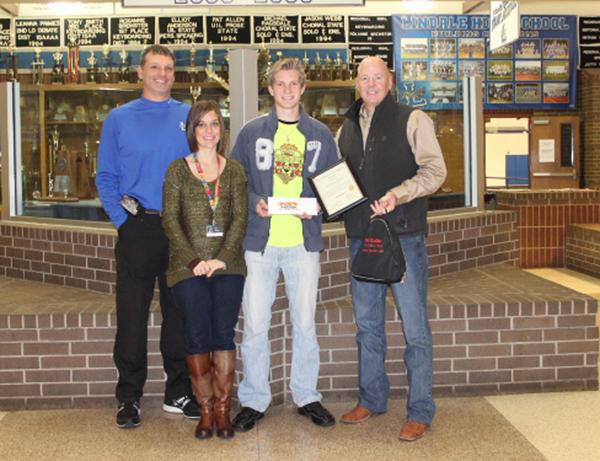 State Farm honors LHS student with December award