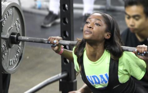 Girl's state powerlifting meet