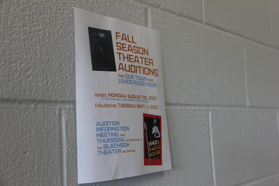 Fall play auditions Thursday