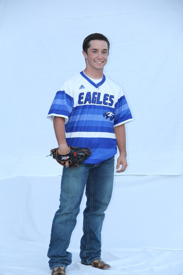 Dupree poses for a shot in his baseball uniform for the student leaders photo shoot.