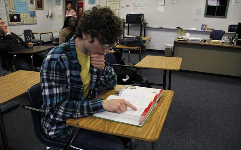 Students prepare for Advanced Placement Exams