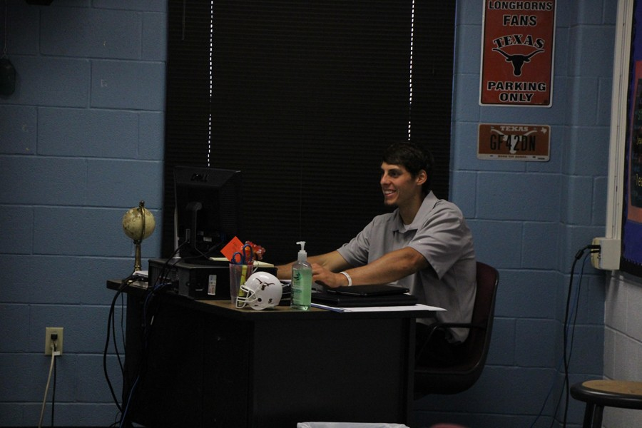 Josh Cochran teaches his class