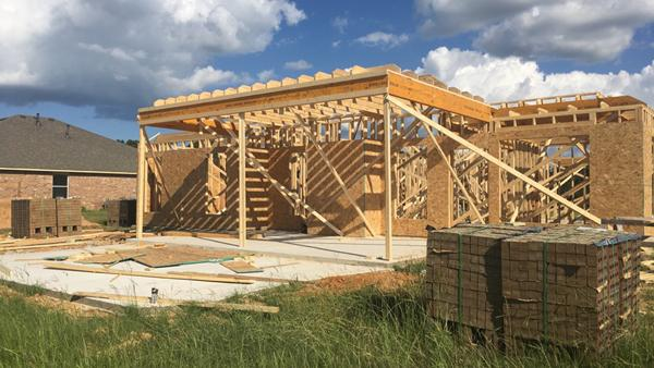 The construction of student Avery McMurray's new house progresses.