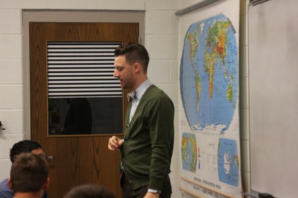 John Fugler teaches class