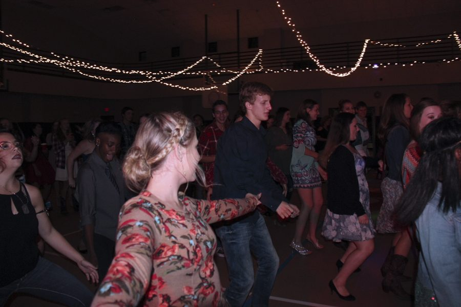 Drill team sponsors Sadie Hawkins dance