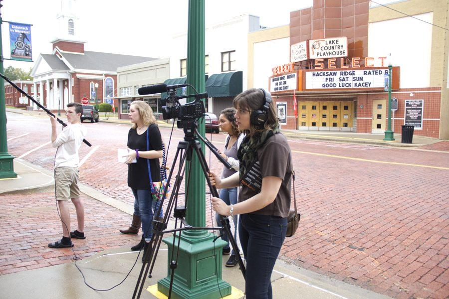 Students film on location in Mineola