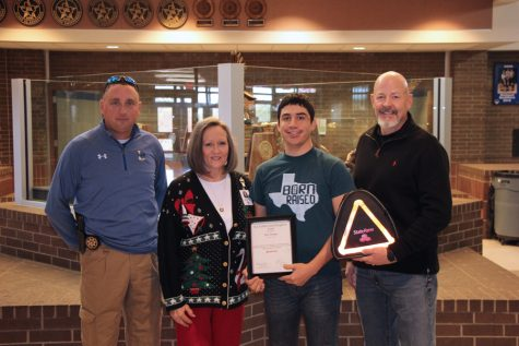 Student receives December State Farm Good Neighbor Award
