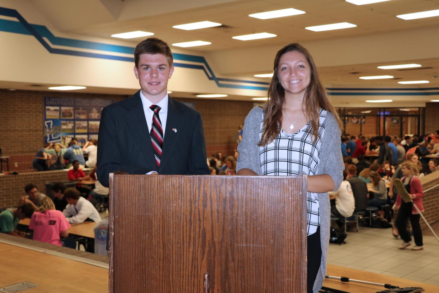 """Seniors Savannah Pruitt and Brady Weaver received the """"Most Likely to Make a Difference"""" Superlative.  """"It's an honor that people see me as a world changer,"""" Senior Savannah Pruitt said. """" I am always striving to make a difference in people's lives."""" Savannah has enjoyed her time making friends and has made plenty of memories here at LHS. Brady has enjoyed the friday night lights, hanging out with friends, and marching at half time. """"As I am living for the Lord, I will be making a difference,"""" Senior Brady Weaver said. """"I want to do what God has called me to do, and if I do that, then I believe that I will make a difference. The world needs to hear the good news found in Christ Jesus and I want to tell that good news to everyone."""""""