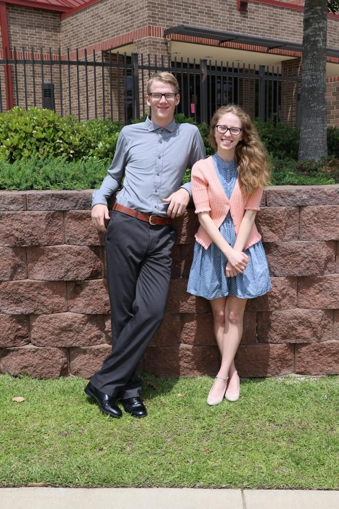 Seniors Gage Walters and Erin Tomlinson pose for their superlative photos. They received the