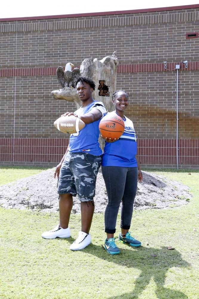 """Seniors Terrell Cooper and Michaela Walker received  the """"Most Athletic"""" Superlative.   """"It feels great knowing my peers believe I'm the most athletic girl in our class,"""" Senior Michaela Walker said. """"I loved the way that the whole school backed us for the season. I will never forget the pride that I saw during basketball season!""""  Walker expects to maintain this title in the future whether it be playing the sports she loves, or coaching them."""