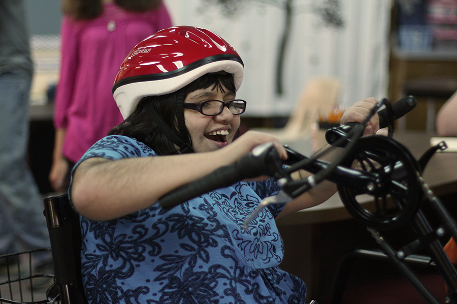 Nichole Prescott enjoys her new mobility trike from Amtryke.