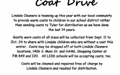 Lindale Cleaners Leads Coat Drive