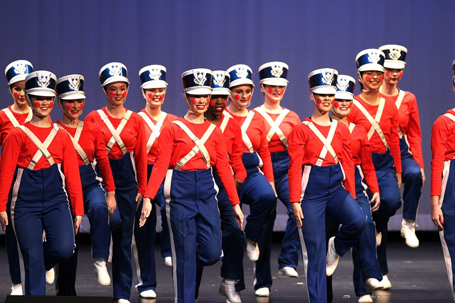 Starsteppers dance to a Toy Soldiers routine. There were singers, dancers and pianists performing at Act VII.