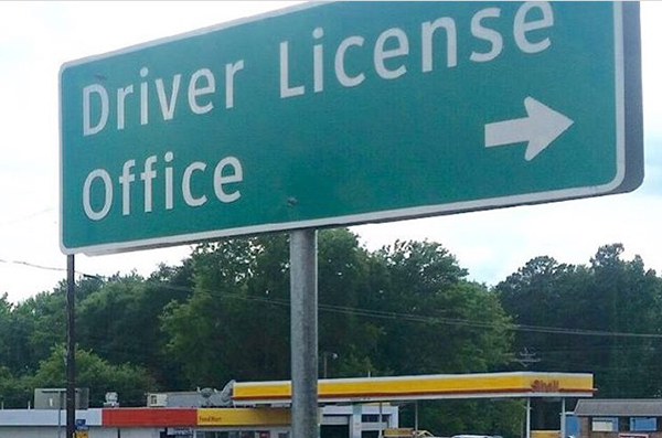Local driver license offices are in Quitman, Tyler and Canton. A celebratory picture in front of the sign is often taken after the test is passed.