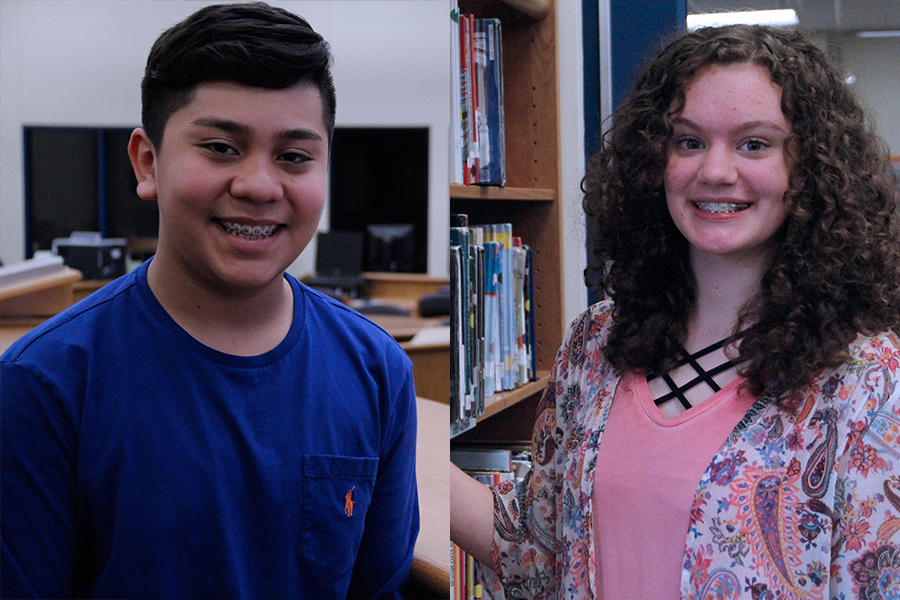 Eighth graders Christian Flores and Autumn Schoolcraft were named LISD Junior High Students of the Month. Flores and Schoolcraft received the honor because of their hard working attitudes, kindness and diligence displayed in and out of the classroom.