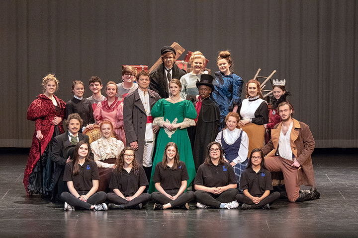 Lindale One Act Play cast poses for their State qualifying picture. This is the first time in 10 years that they have made it to state.