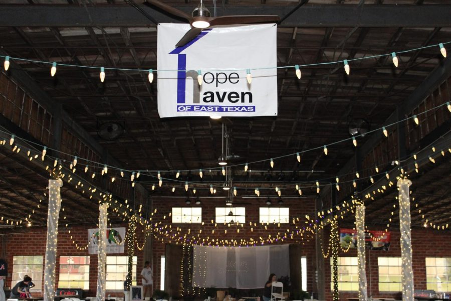 Hope Haven decor fills Picker's Pavillon.  The gala took place Saturday night.
