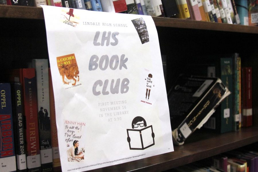 The first meeting of the book club will be November 16 in the library after school. Senior Kamryn Horton organized it along with library teacher Allison Morrow.