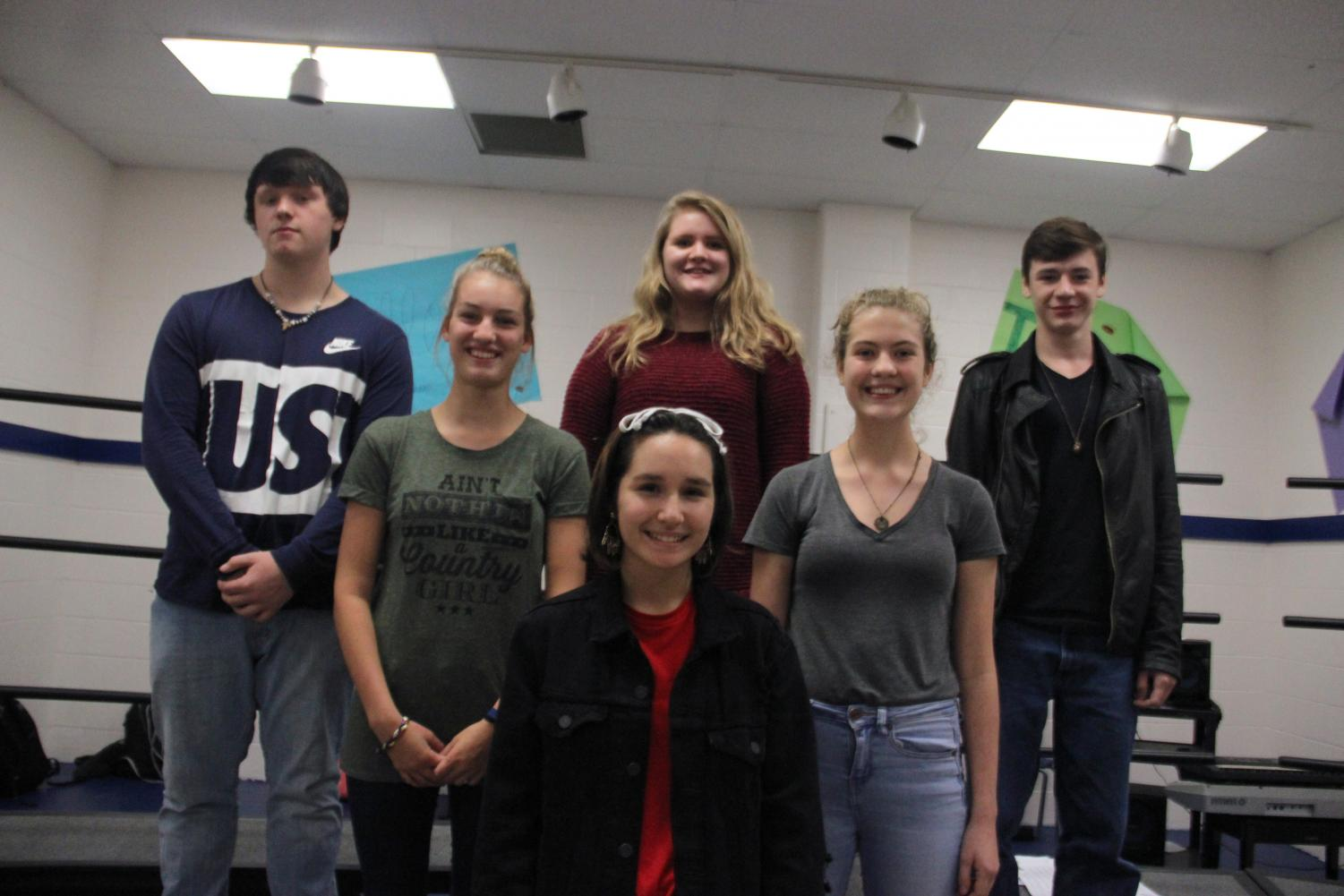 Students advancing to Pre-Area pose for a picture. They will be going to Pre-Area on November 8. (Senior Grace Fischer not pictured)