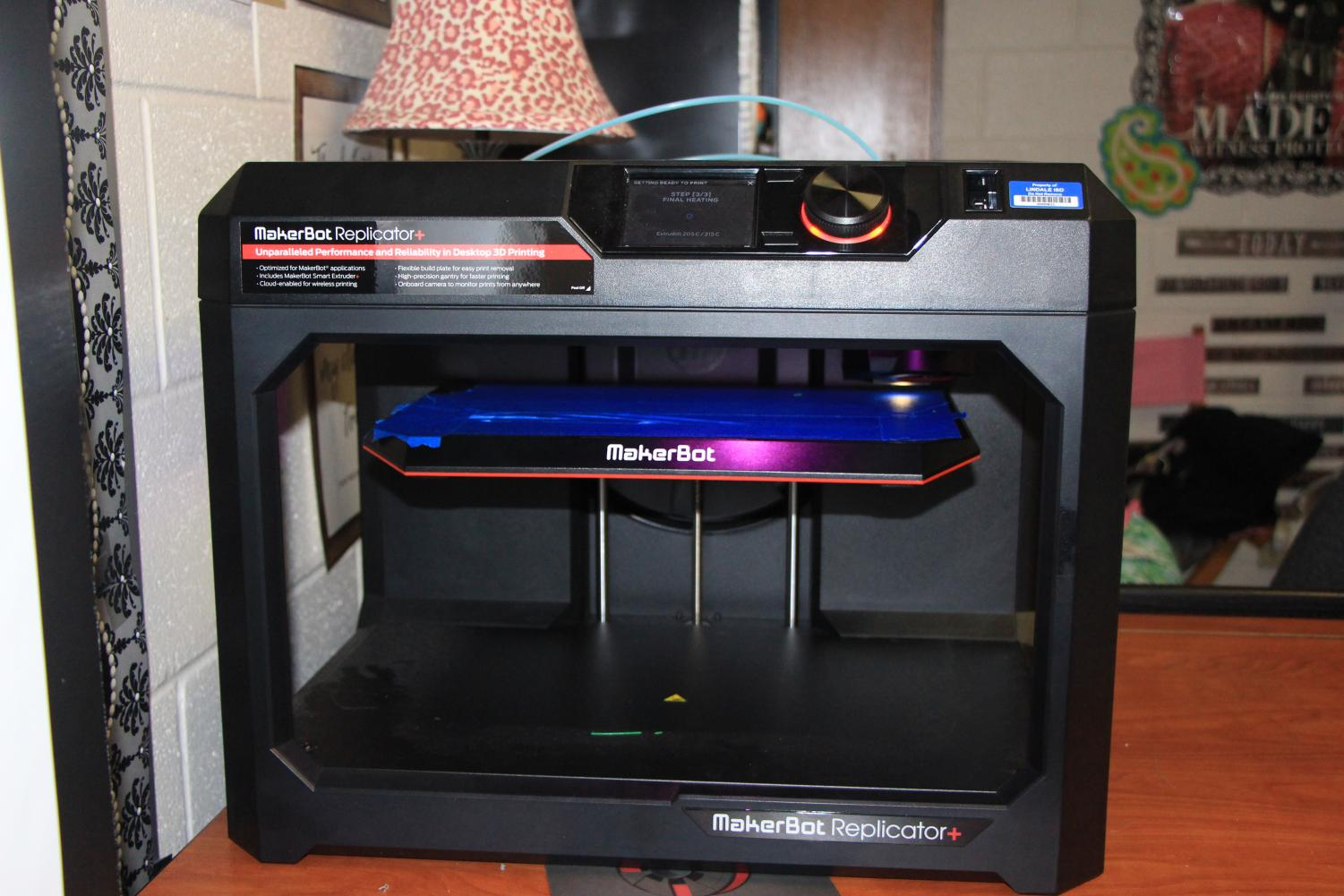 Students use the 3D printer to bring their designs to life. The engineering class got a new 3D printer last year that they use in many of their projects.
