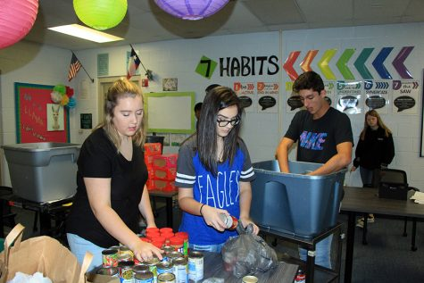 Student Council Hosts Food Drive