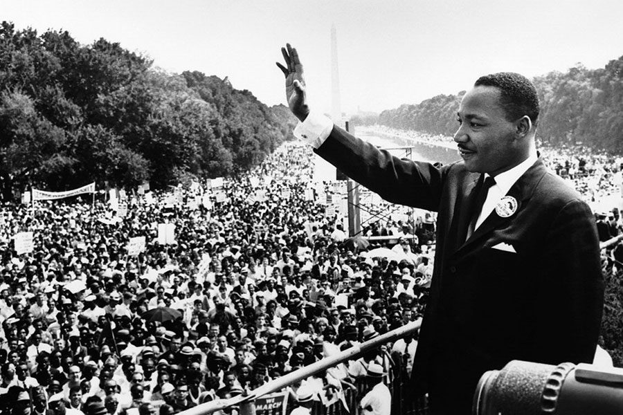 Dr. Martin Luther King Jr. delivers his iconic