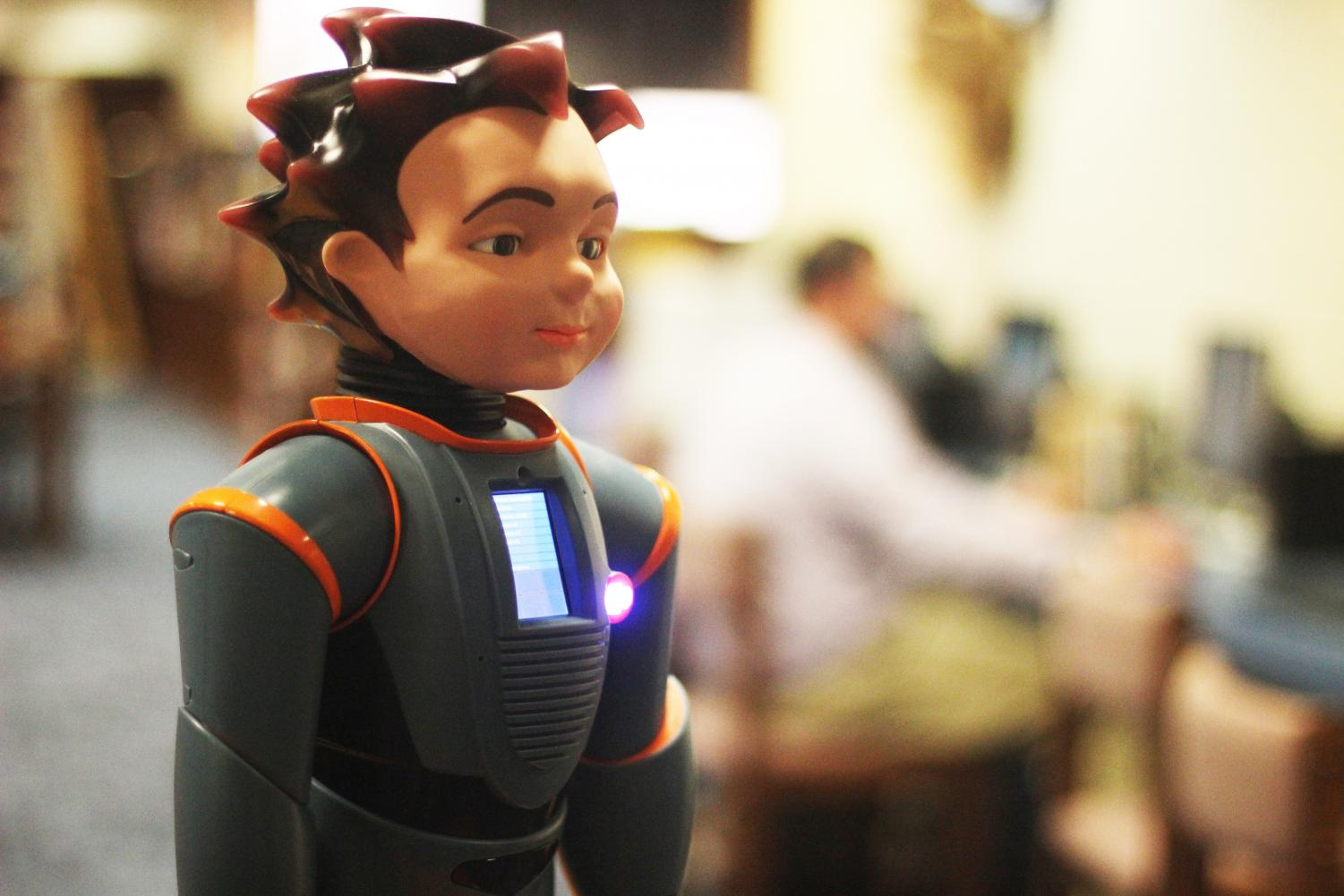 Milo the robot is a tool for students with autism. This is the second Milo the school has owned.