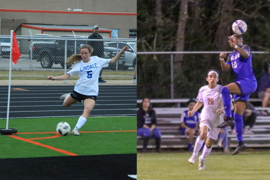 Senior+Braeleigh+Flickinger+starts+to+make+a+corner+kick.+Senior+Samuel+Cox+heads+the+ball+to+maintain+possession+of+it.