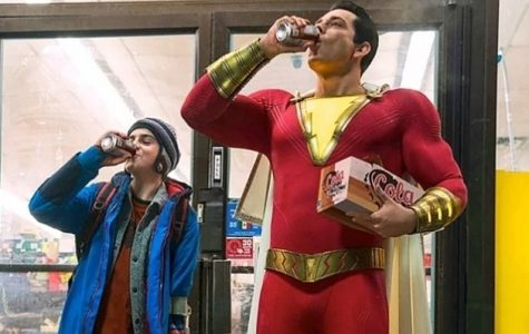 Shazam and Freddie Freeman enjoy a donut breakfast after saving a woman from getting robbed.