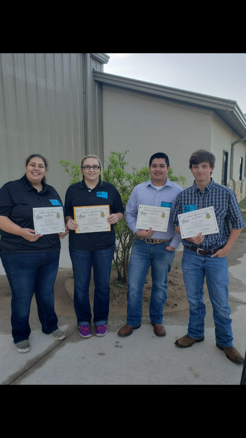 Environmental Natural Resource team poses with their awards from the state competition.