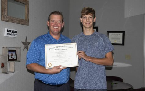 Junior Receives Award of Excellence