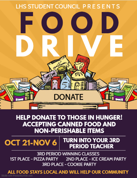 Student Council Hosts Canned Food Drive