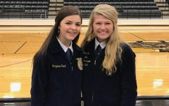 Senior Belle Yoder and Freshman Jaqueline Rand placed first today in Senior Prepared Speaking and Greenhand Speaking in the district contest. They both advance to Area in Marshall.
