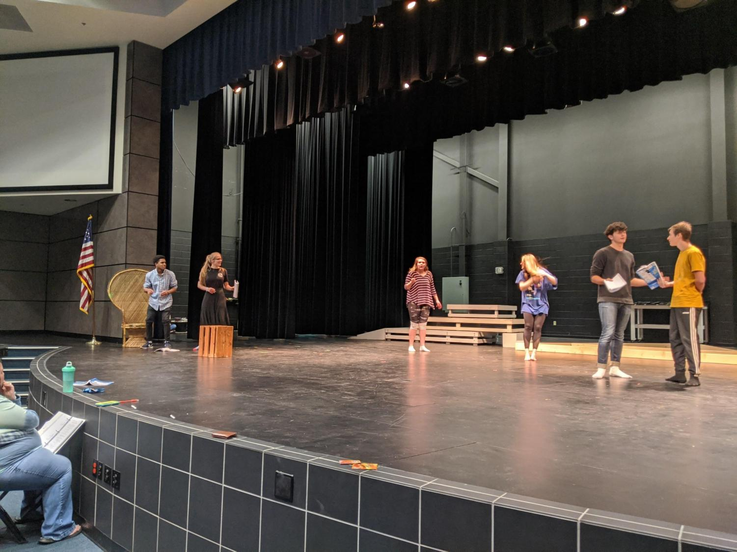 Theater+students+practice+for+the+upcoming+musical.+This+is+the+third+year+in+a+row+that+the+LHS+theater+program+has+done+this%2C+this+year+performing+their+rendition+of+The+Little+Mermaid.+
