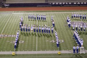 The Pride of Lindale Band performs their drill at the National Association of Military Marching Bands contest November 2. The band placed third at the event, and the University Interscholastic League has now voted to sanction the contest as the UIL State Military Marching Contest.