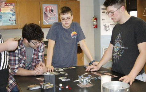 Students play Magic after school on January 29.