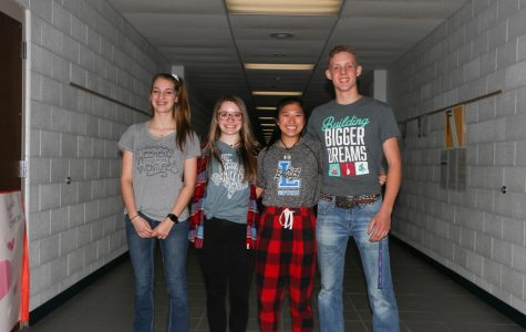Juniors Jayden Gregory (left), Bethany Dupree (middle left), Rebekah Beard (middle right), Tyler Thompson (right) have been chosen to attend this years' Rotary Youth Leadership Award camp. RYLA is a camp that teaches juniors to expand and improve their leadership skills.