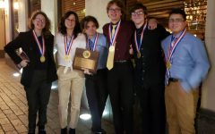 EagleVision poses for the picture after winning the State UIL film competition.