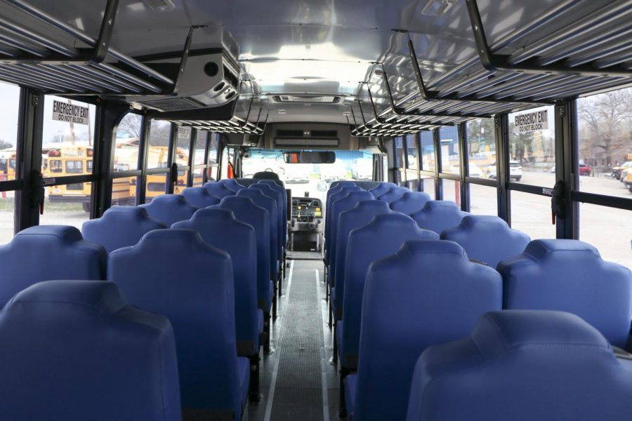 Every person on the bus will have their own individual seat. Standard bus seats have shared seats.