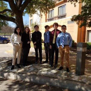Advanced A/V students attended a screening of their film in Austin in February.