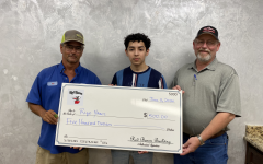Red Baron Gives Cash Awards to CTE Students