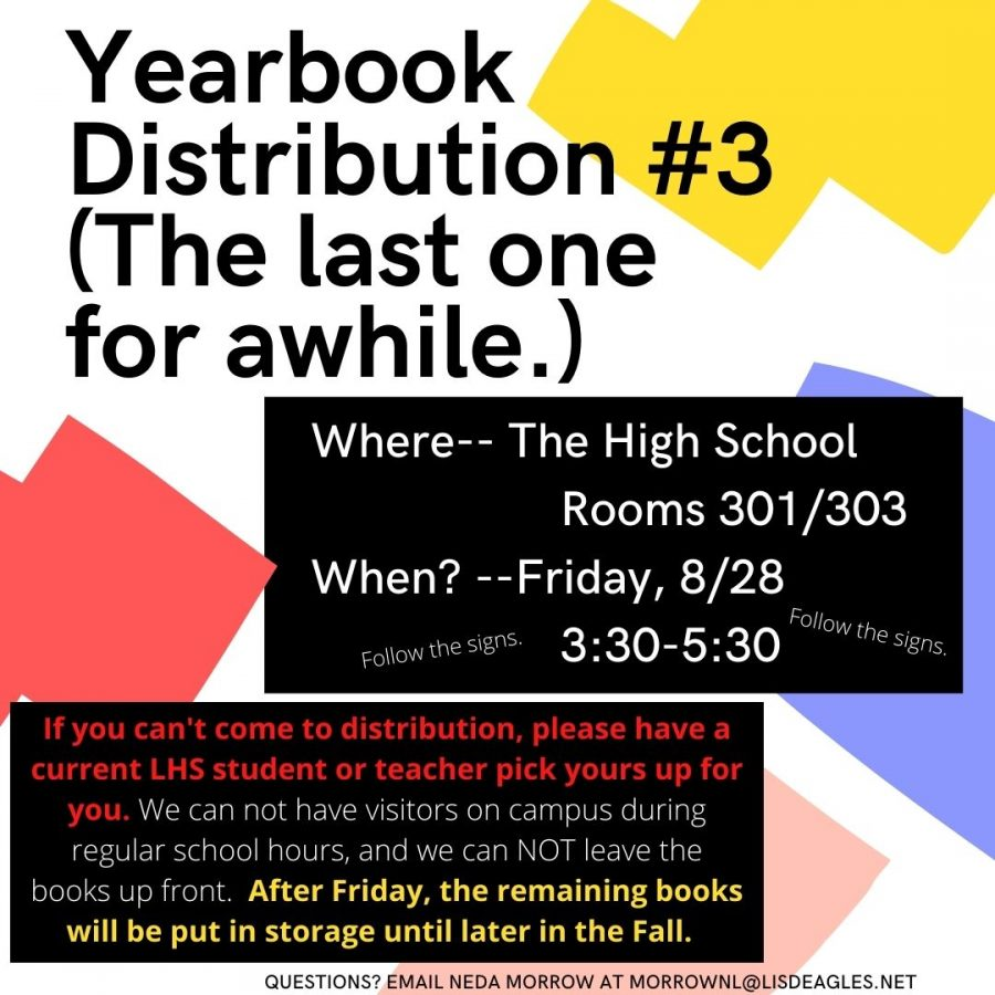 Yearbook Schedules Distribution #3