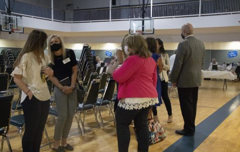 New teachers and administrators gathered on August 11 at the United Methodist and First Baptist churches for the new teacher breakfast and luncheon.