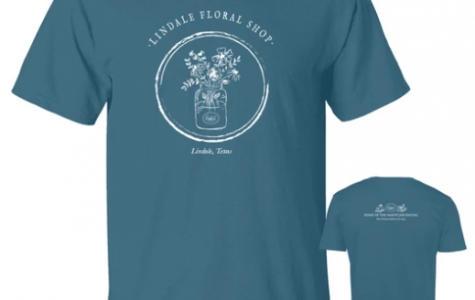 Lindale Floral shirt designed to raise money for the floral design class. The shirts are $15 each and are sold on their website.