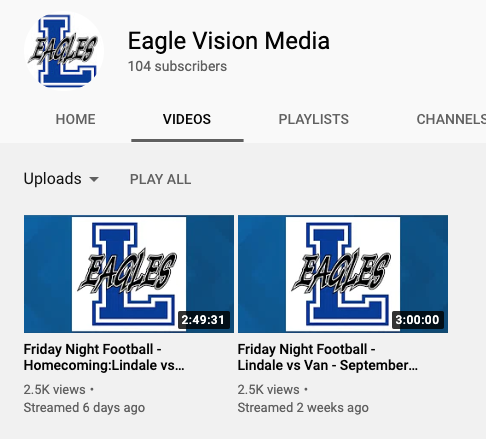Head to the Eaglevision YouTube channel and subscribe to catch all the live-streamed games. The link is found in the story.