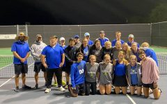 The tennis team wins 10-9 against Wills Point. They are ranked 11 in the state.
