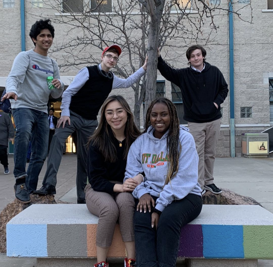 Senior Phoenix Pittman (second from left) poses with preparation group at the 2020 TFA State tournament. This tournament was last March, and became a large source of inspiration for Pittman.